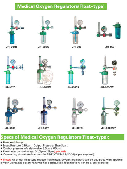 Oxygen Regulator & Humidifier Bottles pictures & photos