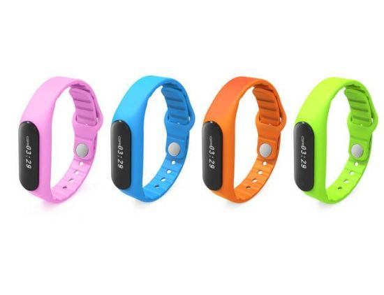 LED Rubber Wireless Vibrating Bluetooth Bracelet Sync Phone