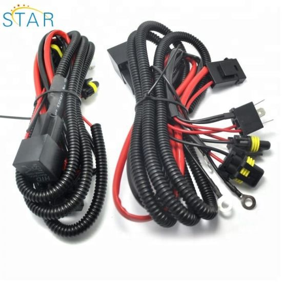 35W 6000K Car Vehicle H4 Ballast HID Controller Wiring Harness on