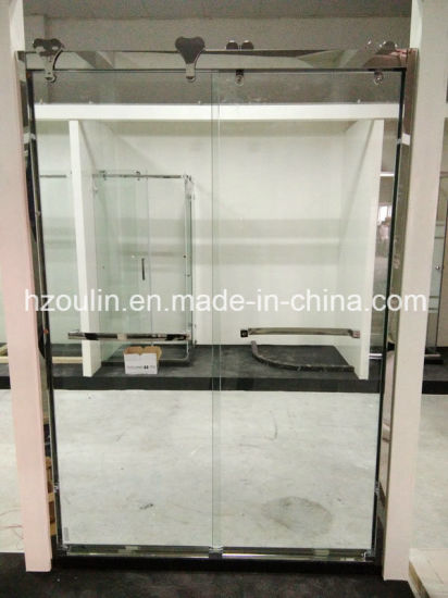 Shower Glass Door with Big Stainless Steel Roller (SD-502) pictures & photos