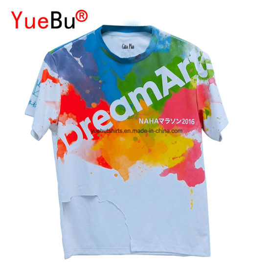 288b534c4 Promotional Customized Sublimation Printing Cotton and Polyester T-Shirts  with Your Logo
