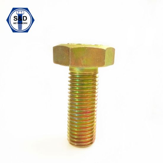 A325m 8s Zinc Yellow Heavy Hex Structural Bolts