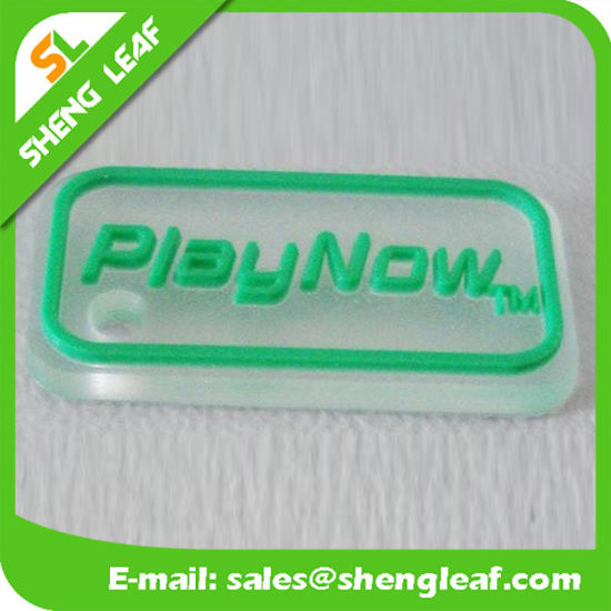 Transparent Soft PVC Non-Phthalate Rubber Garment Patch/Silicone Label