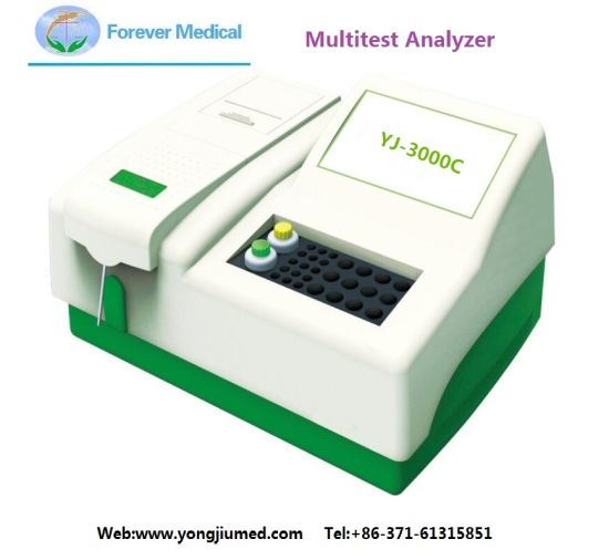 Hospital Multitest Laboratory Analyzer Test Analyzer (YJ-3000C) pictures & photos