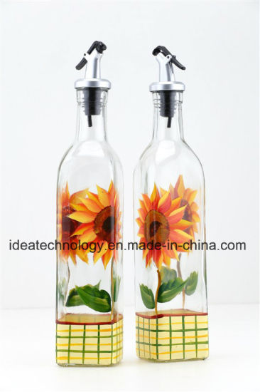 bf5d4113b2e2 China Square Decorative Olive Oil Glass Bottle Sesame Oil Glass ...