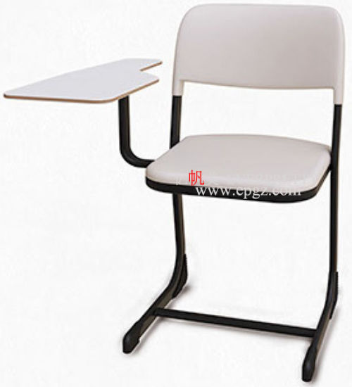 Hot Item Hole Price Plastic Stackable School Clroom Student Chair With Writing Pad