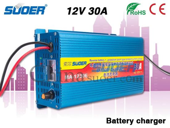 China Suoer Hot Sale 30A Battery Charger 12V Intelligent