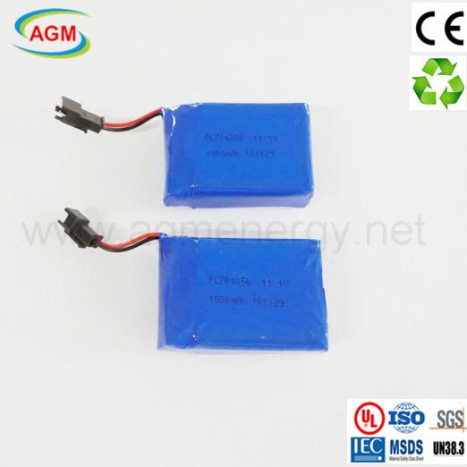 OEM Pl704050 11.1V 1800mAh 3s1p Li Polymer Battery for Massage Device