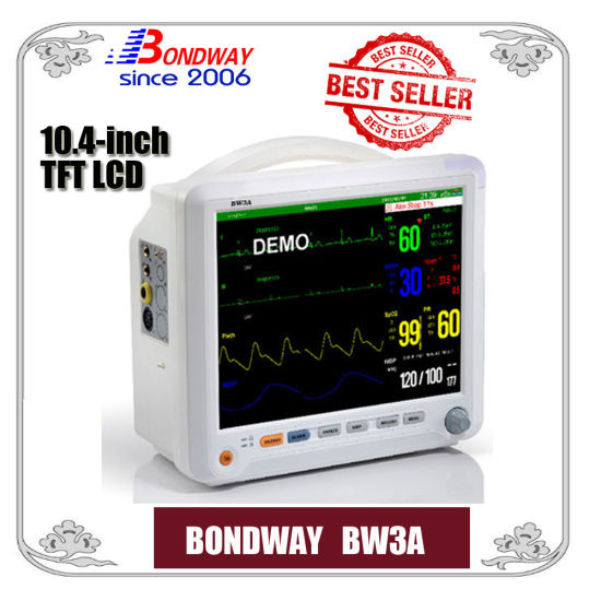 Portable Patient Monitoring System, Bw3a, Made in China, Multiparameter Patient Monitor