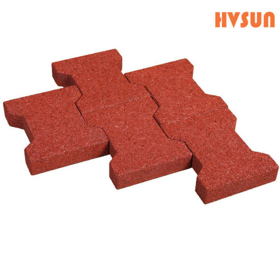 China Recycled Plastic Interlocking Rubber Brick Floor