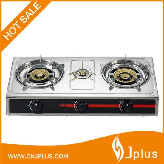0.33X0.28mm Stainless Steel Body 3 Burner Gas Cooker Jp-Gc304
