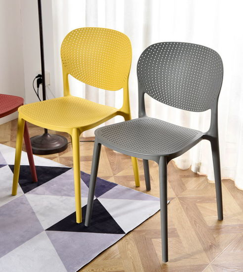 Low Price Modern New Design High Quality Wholesale Modern High Quality Commercial Plastic Chairs Dining Chair Armless Chair (FECXRB096B)