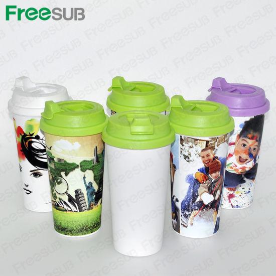 New Plastic Double Wall Travel Cup Mug (SLH-04B)