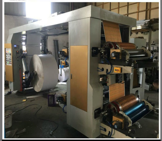 30-350gram Kraft Paper Roll Flexo Printing Machine for Paper Bags (NX21000) pictures & photos