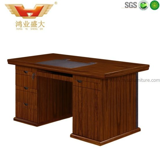 china pvc cover single wooden computer desk writing desk hy d8602