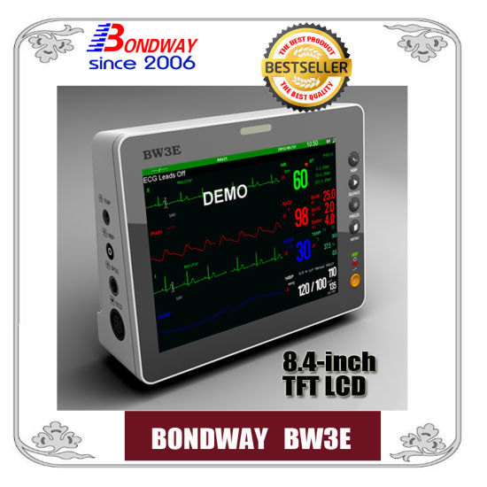 Hot Sale, Portable Patient Monitor with High Resolution TFT Screen or Display