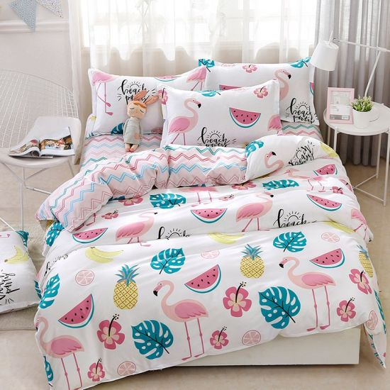 2018 New Printed 100% Polyester Printed Microfiber Duvet Cover Custom Bedding Set pictures & photos