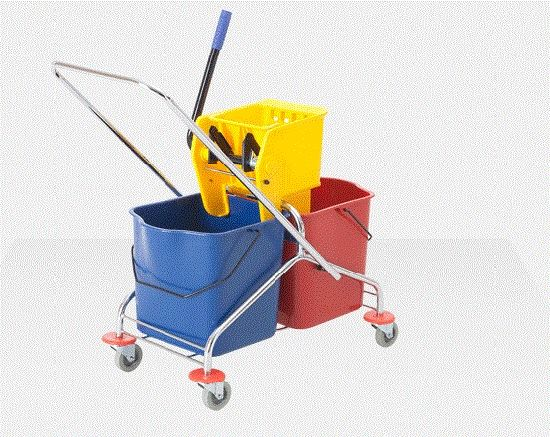 2-Bucket Wringer Trolley for Cleaning (YG-071) pictures & photos
