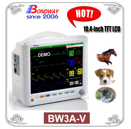 10.4-Inch TFT LCD Veterinary Pet Patient Monitor, for Veterinary Clinic or Hospitals, Vet Monitor