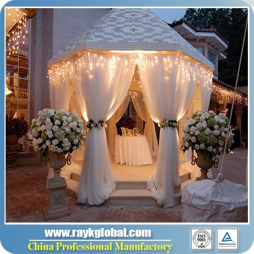 2016 The Most Popular Portable Easy up Indoor Drape Pipe and Drape for Wedding pictures & photos