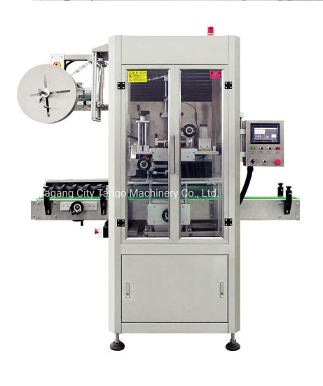 Automatic Pet Plastic Glass Bottle PVC Label Sleeve Shrink Labeling Labeller Packing Machine with Shrink Tunnel