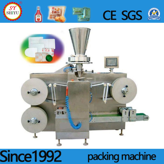 Fully Automatic Double-Row Special-Shaped Bag Warm BOPP Mask Tape Film Sleeve Shrink Packing Packaging Machine