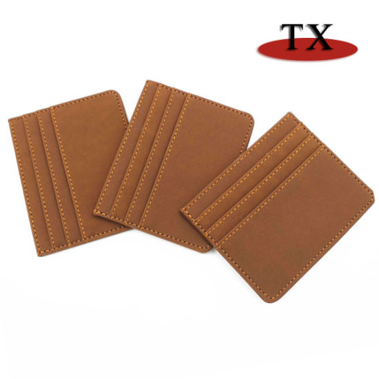 Manufacturer's Wholesale Bank Promotion Multi-Card Pure Color Gift Card Set Creative PU Leather Advertising Bag