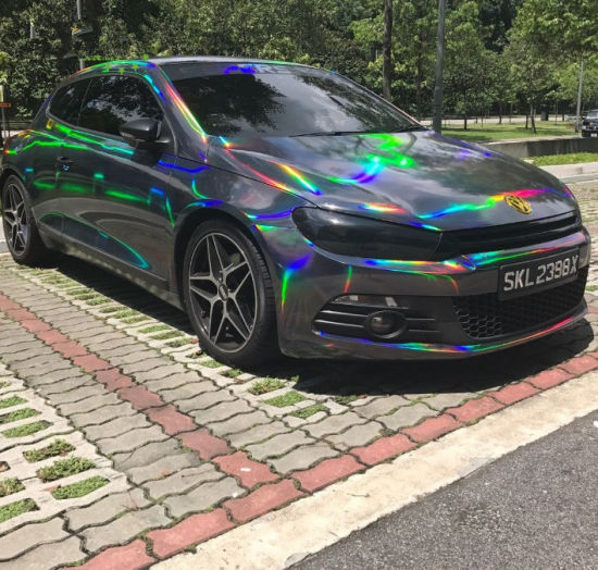 Many Colors Holographic Laser Chrome Car Wrap Vinyl Air Release Film