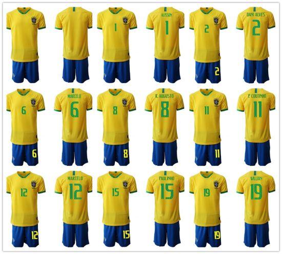 watch fe715 fb123 2019 Copa America Brazil Soccer Jersey Paulinho G. Jesus Football Shirt