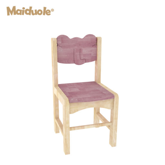 Rubber Wood Kindergarten Furniture General Chair Furniture Kids Table and Chairs for Classroom