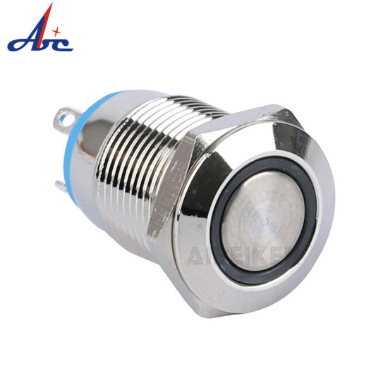 12mm 4pin Momentary LED Illuminated Push Button Switch