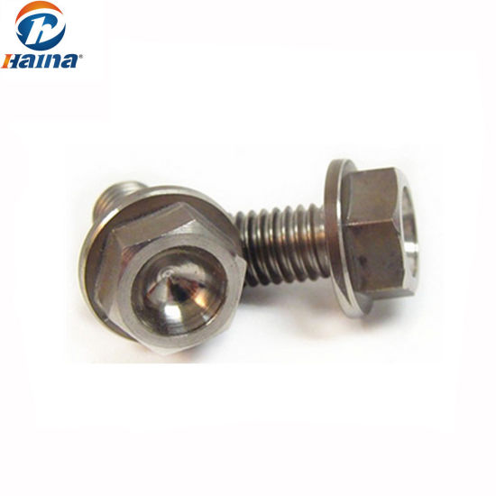 China Manufacturer Gr5 Titanium Hex Flange Bolts - China
