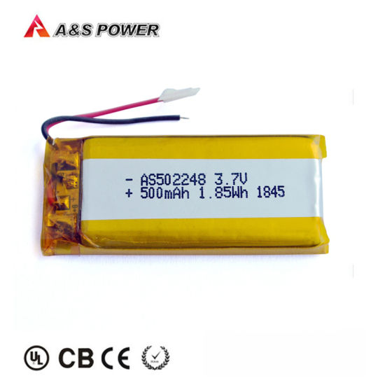 Best Quality OEM Manufactory 502248 3.7V 500mAh Lipo Storage Battery for Hearing Aids