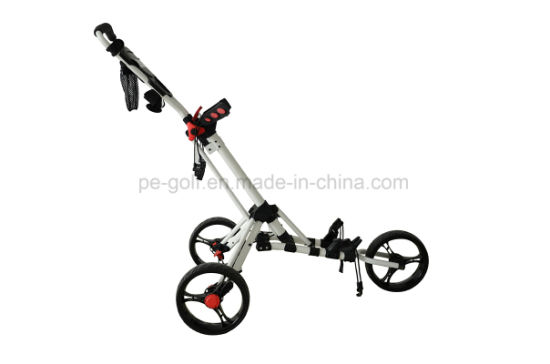 Playeagle Golf Trolley with Three Wheels Push Cart Swivel pictures & photos