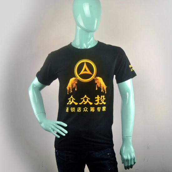 Custom High Quality Men 100% Cotton Printing Round Neck T-Shirt