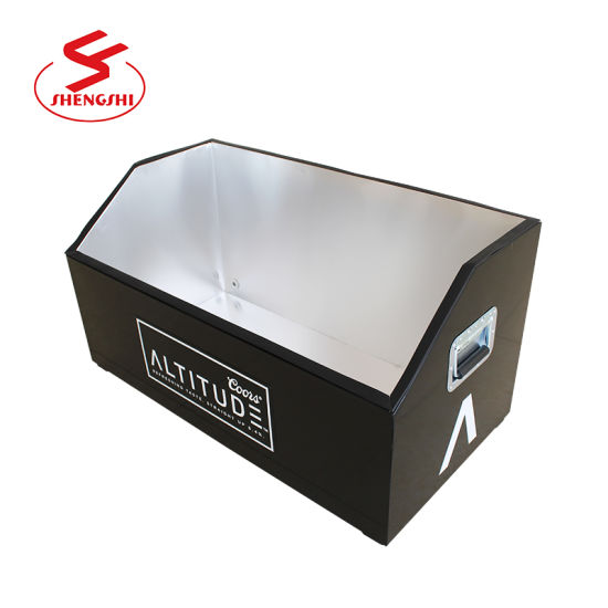 Promotional 90L Large Capacity Metal Beer Cooler Box with Water Outlet
