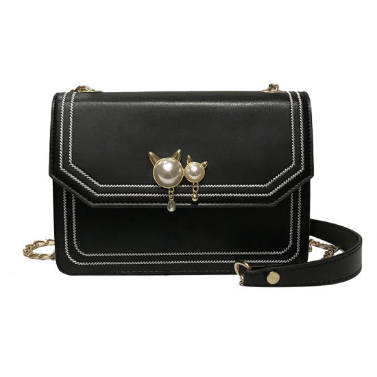bab8dee9386 Women Messenger Bag Chains Pearl Candy Colors Sling Shoulder Crossbody Tote  Handbag