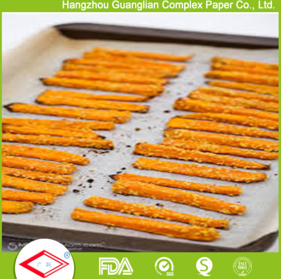 Pre-Cut Non-Stick Silicone Baking Paper Oven Cooking Paper Sheet