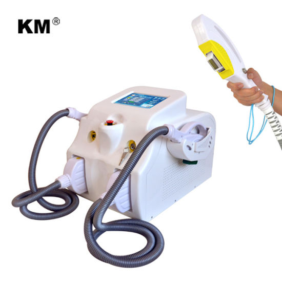 2 in 1 Portable IPL Hair Removal with Elight RF Handles for Body Face Care Age Pigment Removal