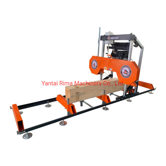 [Hot Item] Portable Mobile Horizontal Bandsaw Saw Mill Wood Sawmill with  Trailer