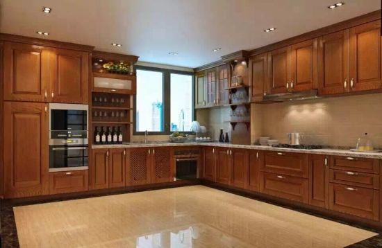 MDF Solid Wood Kitchen Cabinet Furniture for Villa Building (FOH-MKC1328)