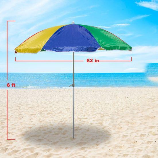Outdoor Custom Print Automatic Folding Garden Patio Beach Umbrella for Rain Sun