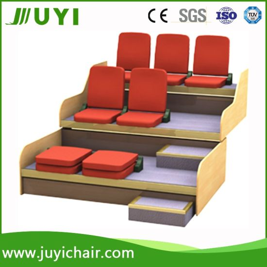 Brand New Retractable Seating Portable Bleacher with Auditorium Chair Jy-768f