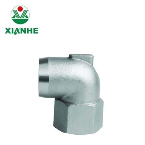 Stainless Steel Press Pipe Fittings Female Thread 90 Degree Elbow Stainless Steel Precision Casting