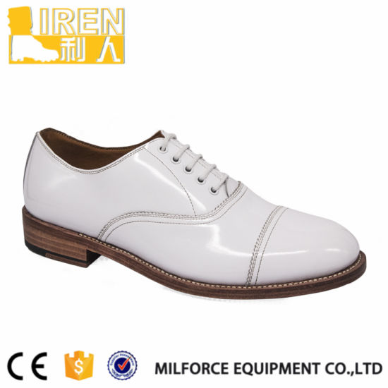 Good Year Technology Military Men Dress Formal White Shoes in Turkey pictures & photos