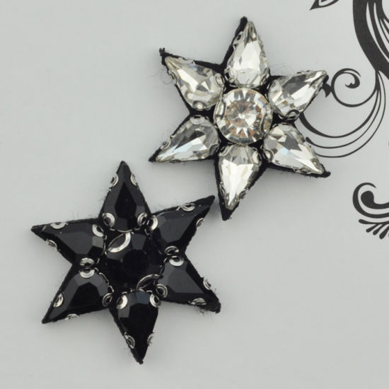 Hand Made Star Shape Beaded Patch Garment Accessories