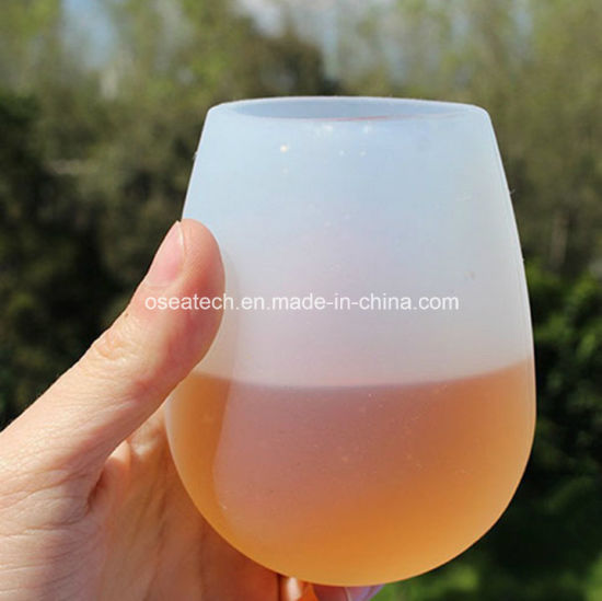 Custom Unbreakable Foldable Camping Silicone Beer Wine Outdoor Travel Cup pictures & photos