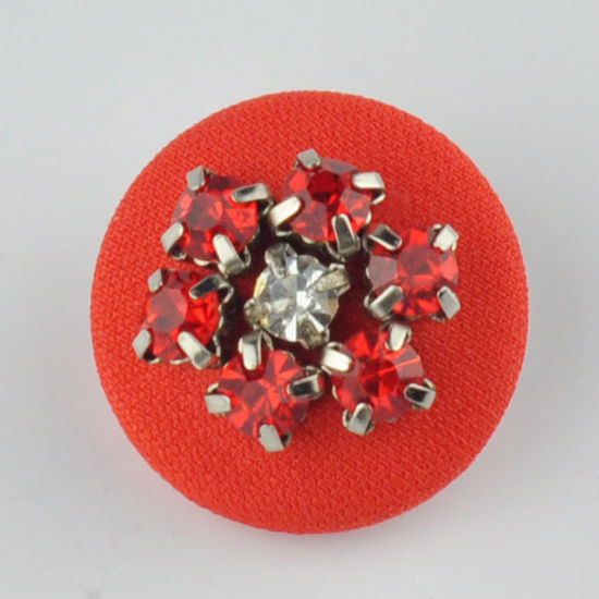 Red Beaded Cloth Button Fashion Accessories for Garment