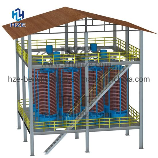 Gravity Concentration Spirals for Gold Recovery Processing Plant