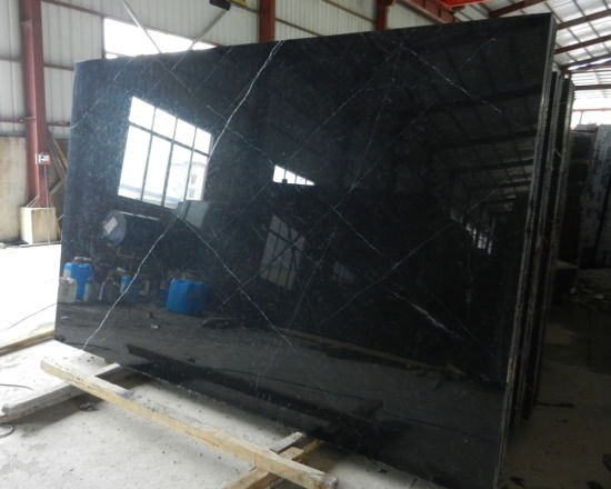 Polished Nero Marquine Marble Black Marble for Wall and Floor pictures & photos